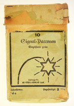 Deutsche Schachtel für 10 Signalpatronen / Leuchtpatronen Kal. 4, Einzelstern grün, 2. Weltkrieg, Bj. 1944