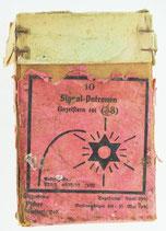 Deutsche Schachtel für 10 Signalpatronen / Leuchtpatronen Kal. 4, Einzelstern rot, 2. Weltkrieg, Bj. 1940