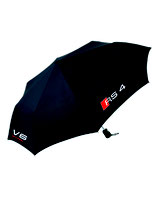RS4 Mini Regenschirm - black - zweifärbiger DRUCK
