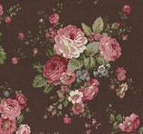 Tela flor marron JP123-80