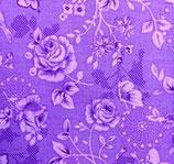 Tela lila con flores