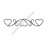 PLANTILLAS ACOLCHADO BORDER HEART Referencia- C8969