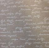 Lino grueso letras blancas