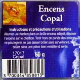 Encens naturel Copal boite 50 gr Ref 17017COP