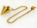 Pendule métal conique or Ref: 1011PEM