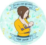 """Stickers Voiture - """"Et vous, c'est quoi votre super-pouvoir"""""""