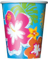 Hawaii blau Partybecher