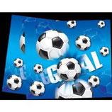 Fussball blau Tischdecke