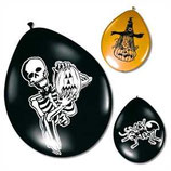 Latexballons Halloween 8er Pack, 30 cm