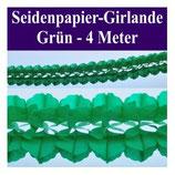 Seidenpapier Girlande grün