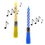 Singende Kuchenkerze blau oder rosa