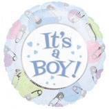 It's a Boy rund Folienballon