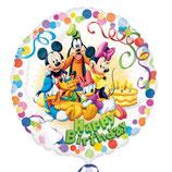 Mickey Mouse Happy Birthday rund Folienballon