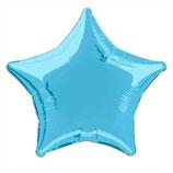 Stern hellblau Folienballon