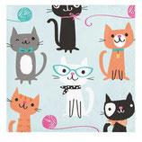 Katzen kleine Servietten