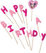 Minnie Mouse Happy Birthday Kuchenkerzen