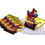 Spiderman gelb Einladungskarten