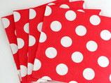 Punkte rot weiss Servietten