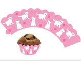 Katze Muffin Cupcake Deko-Banderolle