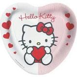 Hello Kitty Sweet Heart Herz Partyteller