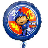 Mike der Ritter blau Folienballon rund