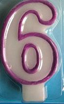 Zahlenkerze 6 Kuchenkerze
