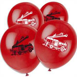 Feuerwehr rote Latexballons