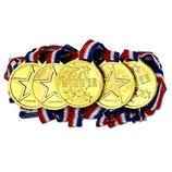 1 Plastik Medaille gold