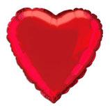Herz rot uni Folienballon