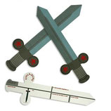 Ritter Schwert Einladungskarten