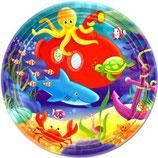 Unterwasser Sea Partyteller