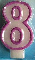 Zahlenkerze 8 Kuchenkerze