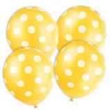 Punkte gelb weiss Latexballons