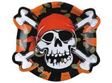 Piraten Jolly Roger Kopf Partyteller