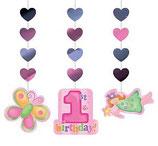 1st Birthday Girl Hängedekoration