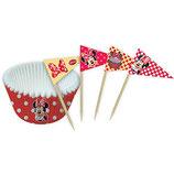 Muffinförmchen Minnie Mouse mit Picker