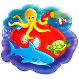 Unterwasser Party Snackteller aus Melamin