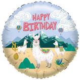 Lama Happy Birthday Folienballon