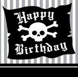 Piraten Happy Birthday Servietten klein