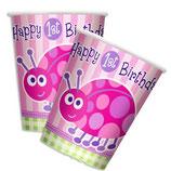 1st Birthday Girl Käferchen Partybecher