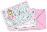 Ballerina Schwan Einladungskarten