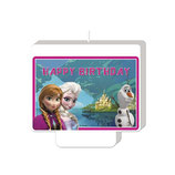 Frozen Happy Birthday Decor Kuchenkerze