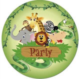 Dschungel grün Partyteller