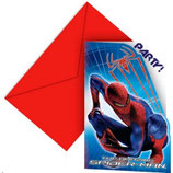 Spiderman The Amazing Einladungskarten