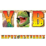 Dinosaurier Happy Birthday Girlande