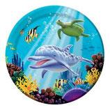 Unterwasser Partyteller