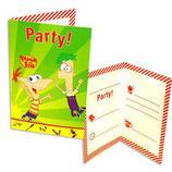 Phineas & Ferb Einladungskarten