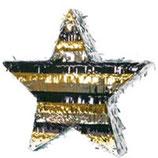 Piñata Stern Gold/Silber/Schwarz