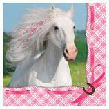 weisses Pferd Servietten