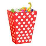 Punkte rot weiss Geschenkebox